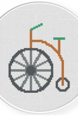 Daily Cross Stitch - Old School Bicycle