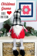 Sew Can She - Christmas Gnome Sewing Pattern - Free