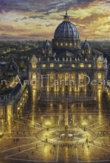 HAED _ Vatican sunset  by Kinkade