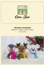 One and Two Company - Carolina Guzman - Christmas Ornaments Reindeer Pinguin and Polar Bear