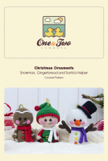 One and Two Company - Carolina Guzman - Christmas Ornaments Snowman Gingerbread Santas Helper