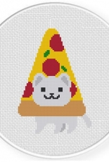 Daily Cross Stitch - Pizza Cat