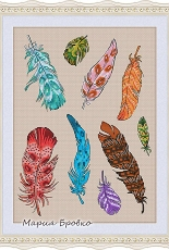 Feather Sampler by Maria Brovko