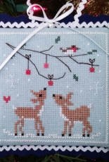 Two Deer - Part of Noel Nostalgique Pattern