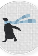 Daily Cross Stitch - Penguin Scarf