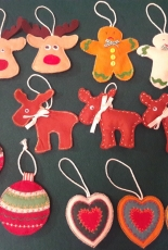 Felt Christmas decorations - My work
